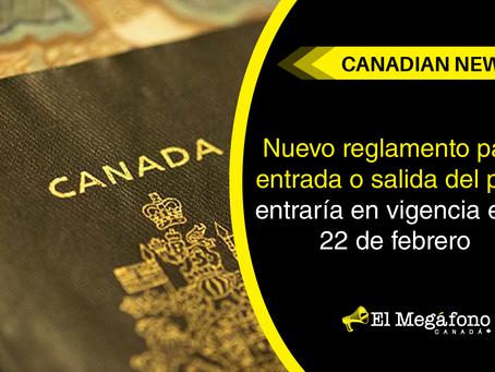 Nuevo reglamento para entrada o salida del país, entraría en vigencia este 22 de febrero