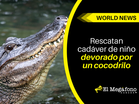 Rescatan cadáver de niño devorado por un cocodrilo