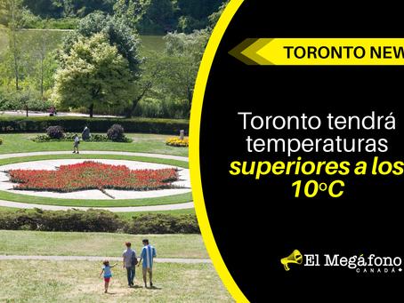 Toronto tendrá temperaturas superiores a los 10º C