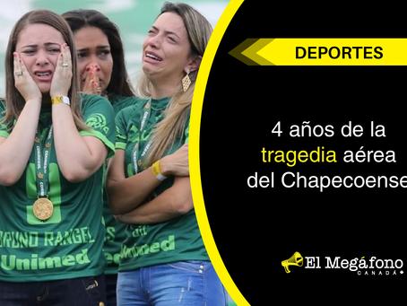 4 años de la tragedia aérea del Chapecoense.