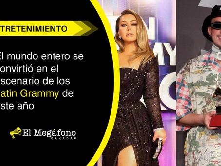 El mundo entero se convirtió en el escenario de los Latin Grammy de este año.