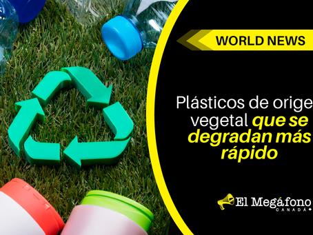 Plásticos de origen vegetal que se degradan más rápido