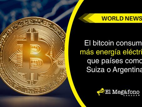 El bitcoin consume más energía eléctrica que países como Suiza o Argentina