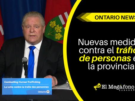 Nuevas medidas contra el tráfico de personas en la provincia