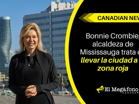 Bonnie Crombie, alcaldeza de Mississauga trata de llevar la ciudad a la zona roja