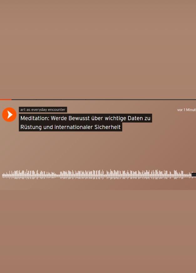 Meditation: Werde bewusst über wichtige Daten zu Rüstung und internationaler Sicherheit