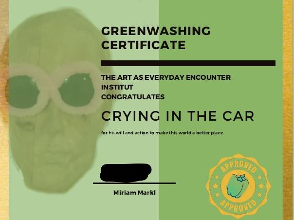 Greenwashing Certificate