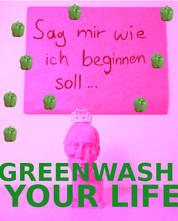 Greenwashing Angebot: Ich bot gegen Spende an, im Namen des Spenders etwas gutes für die Welt zu tun. Zusätzlich erhielt der Spender ein personalisiertes Greenwashing Zertifikat