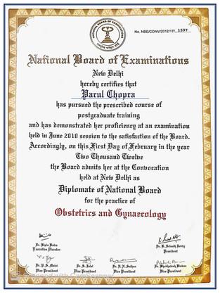 Diplomate National Board of examinations