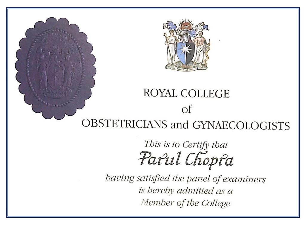Member RCOG, London (UK)