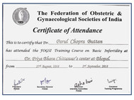 Certificate in Infertility management