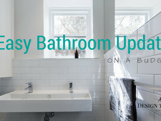 4 Easy Bathroom Updates