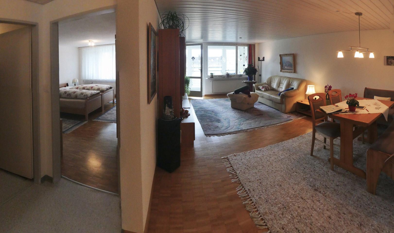 Schlafzimmer und Wohnzimmer