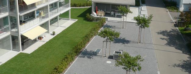 Pavillon im Zentrum