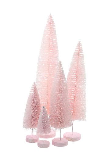 light pink assorted sisal tree set.