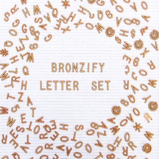 bronze letter set.