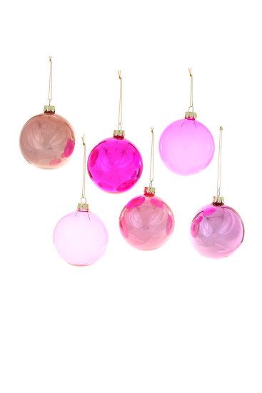 large pink ornament set.
