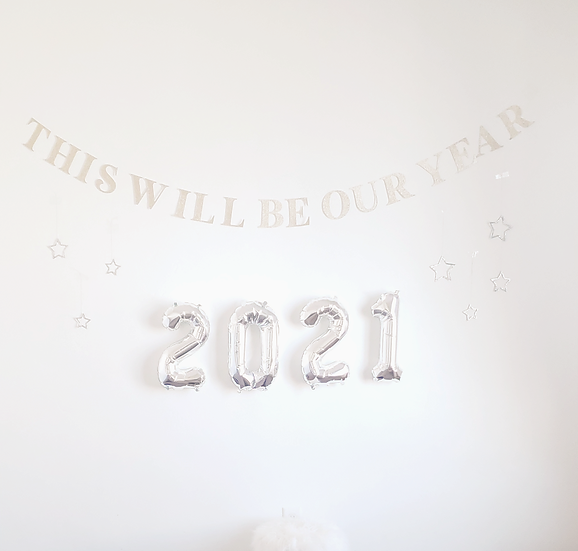 'this will be our year' banner.