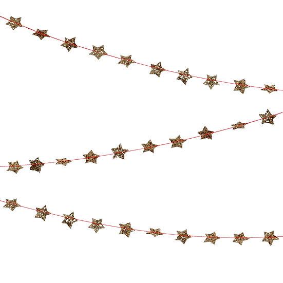mini gold star garland.