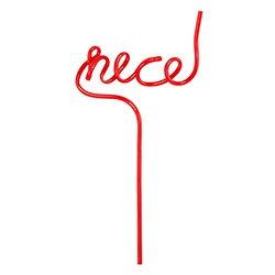 christmas word straws.