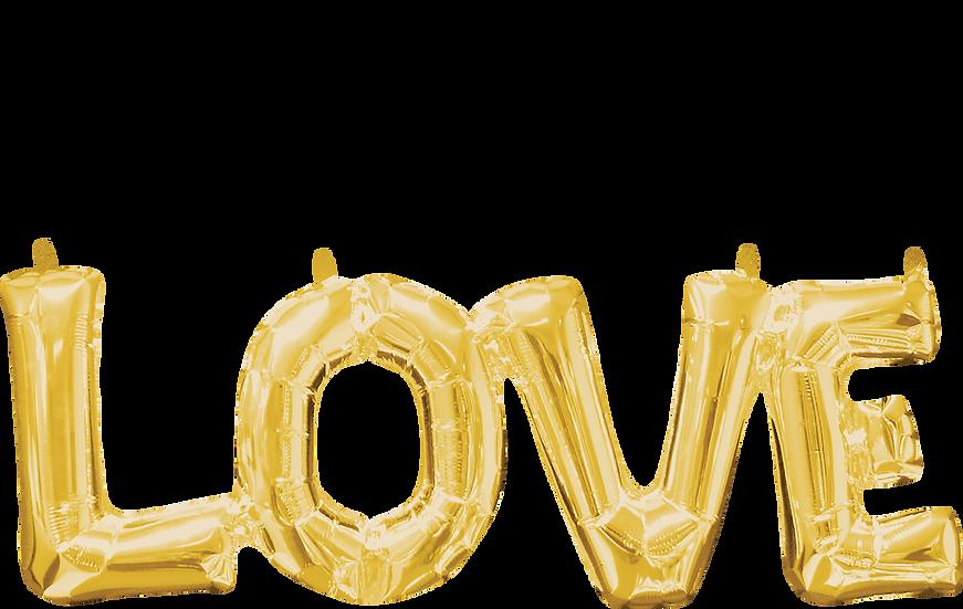 love(r's) block foil balloon phrase.
