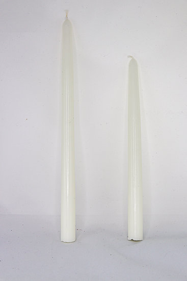 ivory tapers.