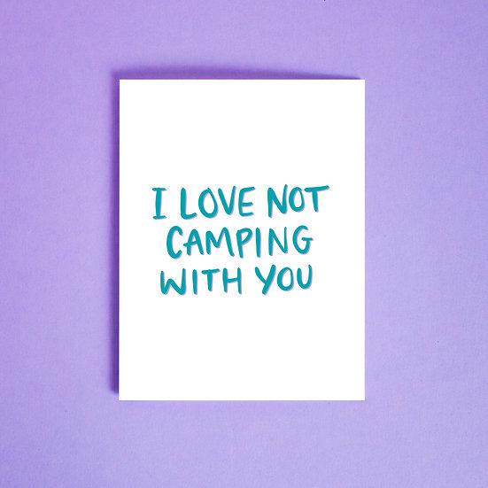 not camping card.