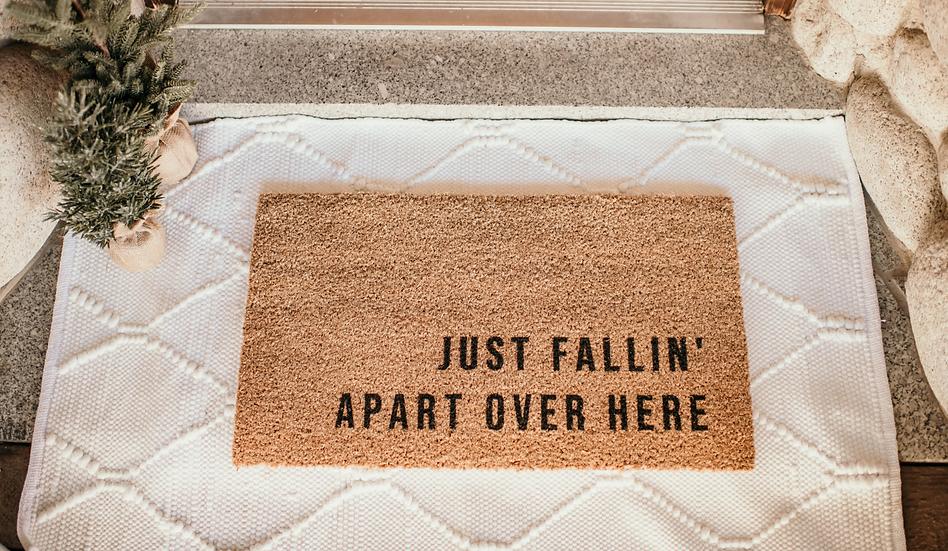 fallin' coir welcome mat.