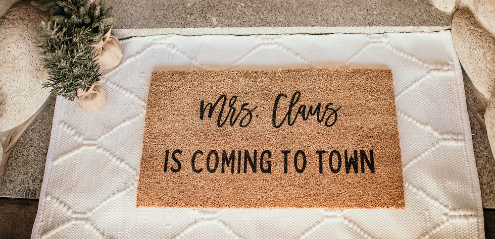 mrs. claus welcome mat.