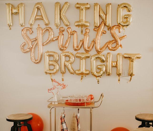 'making spirits bright' balloon kit.