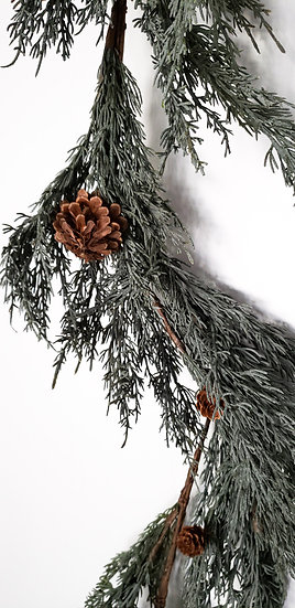 blue cypress garland.