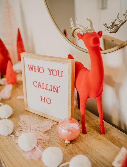 ruby the velvet reindeer.