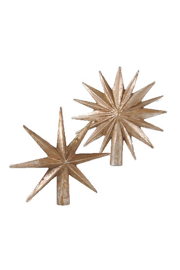 metallic star toppers.