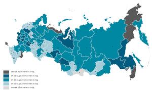 Объем потребления рыбы на человека в год по субъектам РФ