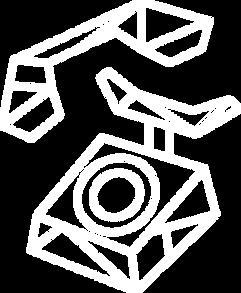 Icone téléphone lign géométrique