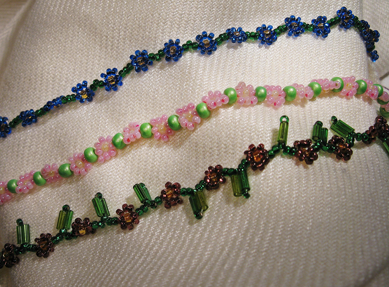 Daisy chain bracelets