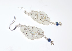 Silver squiggles earrings
