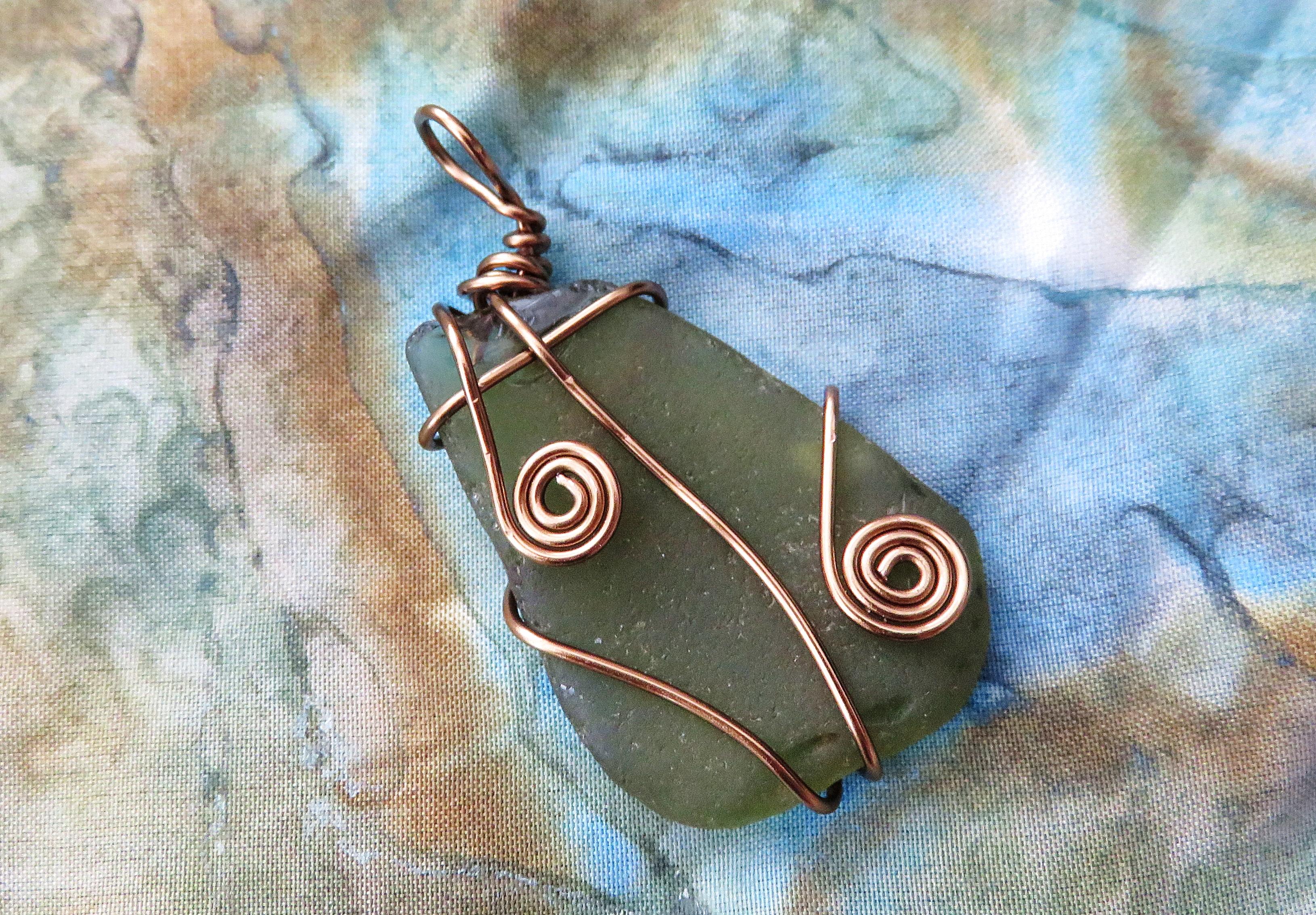 Gunmetal leaf pendant