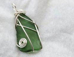 Sleek green pendant