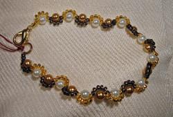 Golden Harlequin pearl bracelet