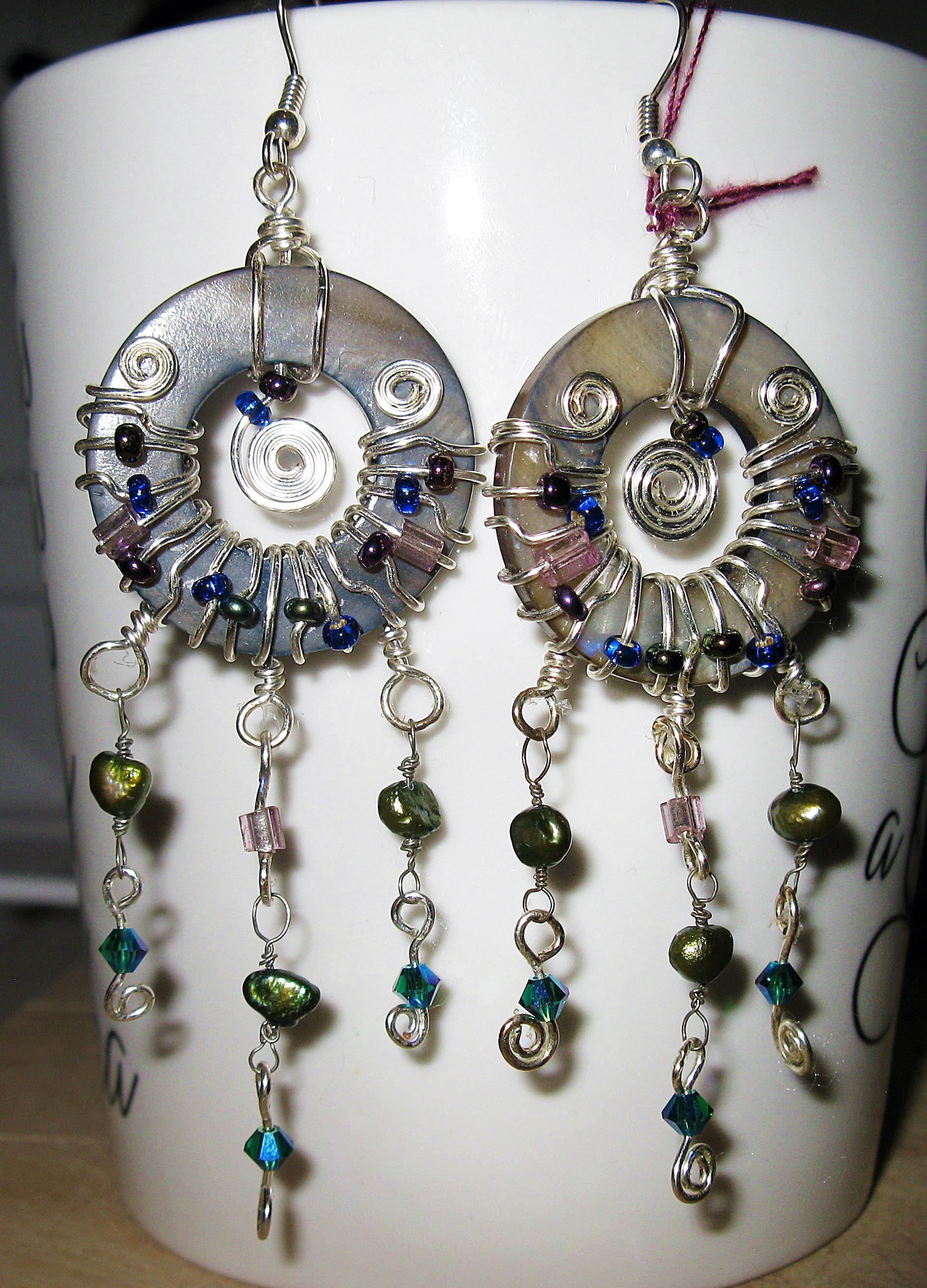 Donut wrap chandeliers