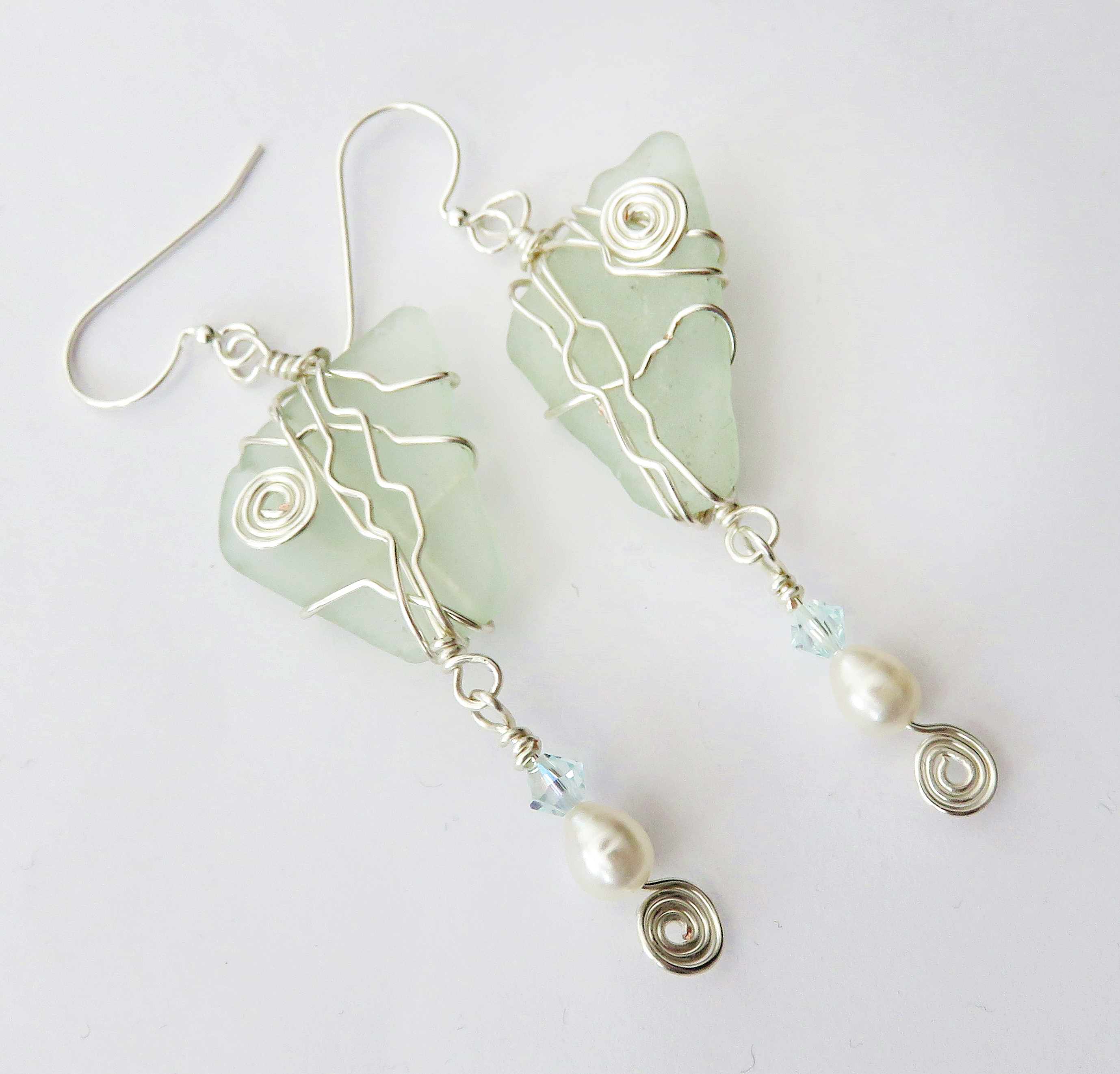 Icy blue waters earrings