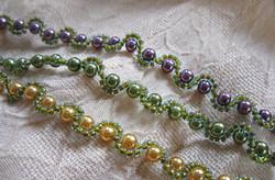 Mardi Gras pearl bracelets