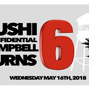 Sushi Confidential 6 year Anniversary