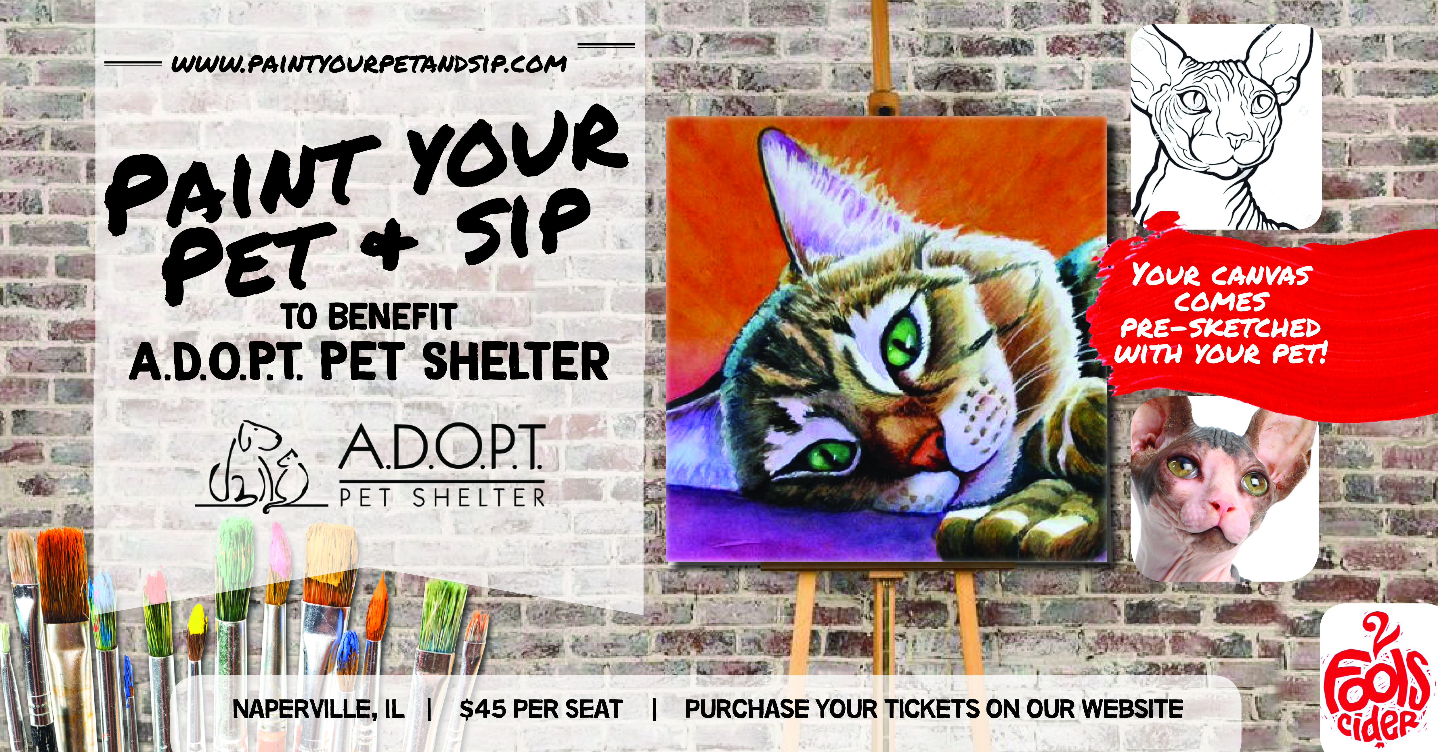 SOLD OUT! To Benefit A D O P T  Pet Shelter