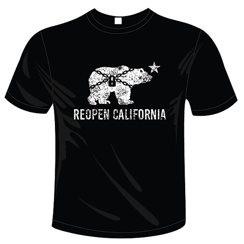 REOPEN CALIFORNIA TSHIRT
