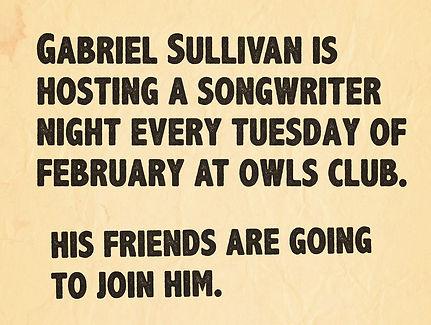 Gabriel Sullivan Billy Sedlmayr Owls Club