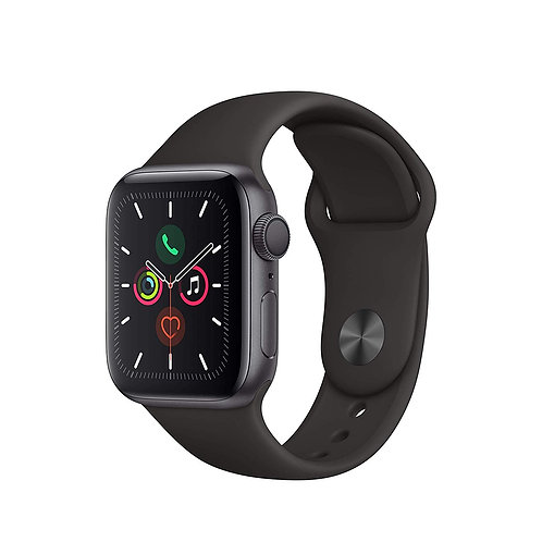 40 mm Apple Watch Series 5. Space Grey Alu Case with Black sport band. GPS Only