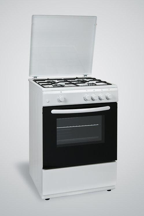 60 x 60 Gas Cooker White