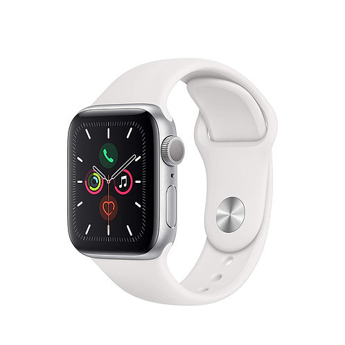 40 mm Apple Watch Series 5. Silver Alu Case with White Sports Band. GPS Only
